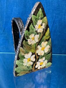 Antique Primitive Cast Iron Ironing Board Clothes Iron Painted Dogwood Sj3j