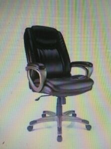 New Realspace Treswell Bonded Leather High back Executive Chair Brown