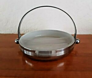 4 By 5 1 2 Chase Chrome Glass Divided Candy Nut Dish Free Shipping