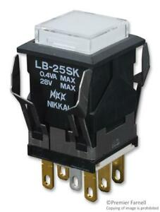 Nkk Switches lb25skg01 6f jb switch pushbutton illuminated dpdt 0 1a 28v