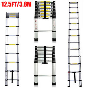 Portable 12 5ft Retractable Ladder Telescoping Lightweight Folding Telescopic