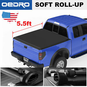 Soft Roll Up 5 5 Bed Tonneau Cover Fit For 2015 2019 Ford F 150 Supercrew Cab