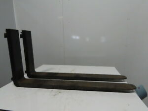 42 X 4 20 Drop Forklift Forks Pair Cam Latch Style