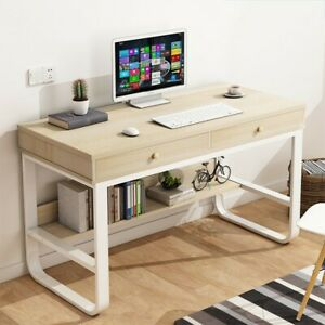 Computer Desk Pc Laptop Computer Table Workstation Home Office Glass Metal Usa