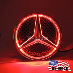 Sport Bright Car Led Grille Logo Emblem Light For Mercedes Benz 2013 2016 Red