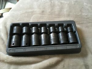 Snap On 3 8 Drive Impact Swivel Socket Set Metric 6 Point