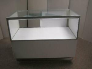 Jahabow 50 Half Vision Retail Commercial Glass Gray Display Case Showcase B