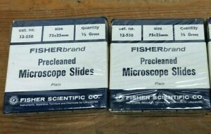 Lot 2 Fisher Scientific Fisherbrand Precleaned Microscope Slides 12 550 75x25mm