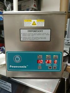 Crest Powersonic P360d 45 Ultrasonic Cleaner With Heat Timer Degas 1 Gal Tank