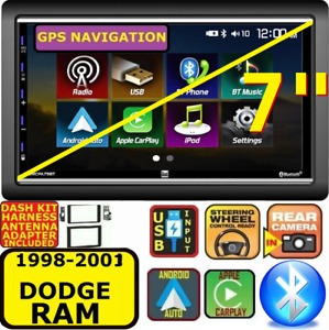98 99 00 01 Dodge Ram Apple Carplay Android Auto Bluetooth Touchscreen Package