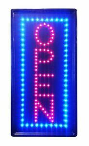 Ultra Bright Led Neon Light Animated Motion With On off Vertical Open Sign L100