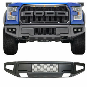 Raptor Style For 18 19 Ford F150 Iron Front Bumper Painted Grey Conversion