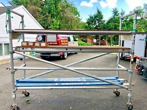 Werner Aluminum Pipe 23 Foot Scaffold Tower