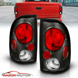 1997 1998 1999 2000 2001 2002 2003 2004 Dodge Dakota Black Tail Lights Pair