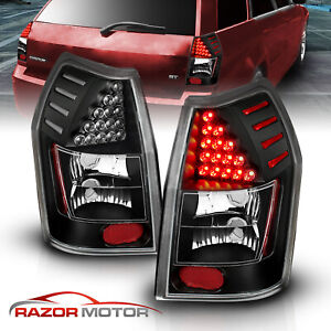2005 2006 2007 2008 Dodge Magnum Black Led Tail Lights Rear Brake Lamps Pair