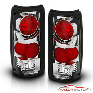 1982 1993 Chevy S10 Pickup gmc Sonoma Truck Chrome Rear Brake Tail Lights Pair