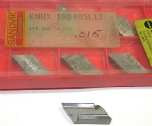 Lot Of 7 New Sandvik Indexable Turning Carbide Inserts Knux 160405l12 H13a K20