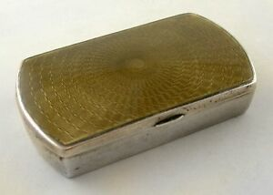 Sterling And Guilloche Enamel Pill Box