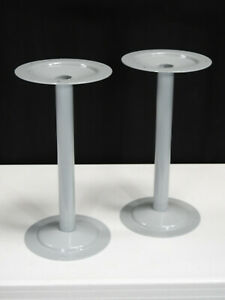 Set Of 2 Heavy duty Steel Pedestal For Locker Room Bench With 3 Anchoring Holes
