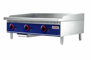 Commercial Countertop Manual Griddle Kitma 36 Natural Gas Flat Top Griddl