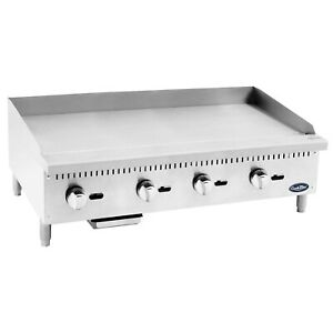 Cook Rite 48 Inch Commercial Flat Top Gas Griddle Propane Fueled Tabletop St