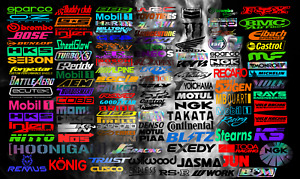 30 Random Automotive Sponsor Decals Jdm Car Racing Drift Sticker