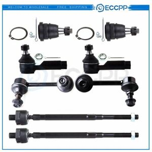 For 2000 2003 Nissan Maxima 8pcs Front Lower Ball Joints Tie Rods Sway Bars Kit