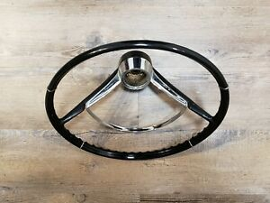 1965 1967 Chevrolet Corvair Monza Black Steering Wheel Gm Oem
