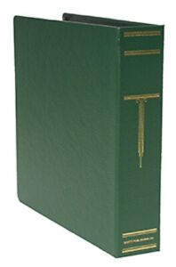 Scott 3 ring 2 Post Universal Binder Leatherette Green For Stamp Album Pages New