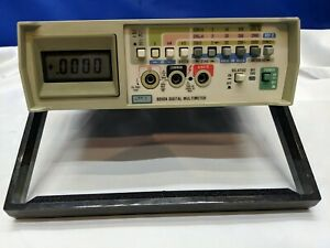 Fluke 8050a Opt 01 Bench Multi Meter Tested Calibrated New Batteries Probes