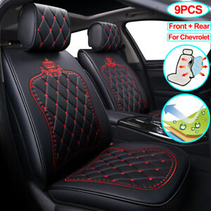 Universal 9pcs Leather Car Seat Cover Full Set Fit For Chevrolet Equinox Cruze