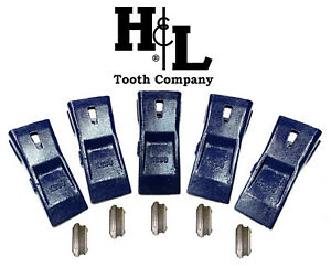 X290 X290sp Hensley Style Bucket Teeth 5 Pack Pins By H l Tooth Company 290
