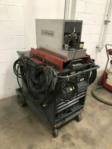 Lincoln Tig 300 Welder With Cooling Unit Foot Pedal Torch Cords Etc Tested 77