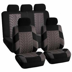 Car Seat Covers For Car Sedan Suv Full Set Split Bench Compatible Gray Black