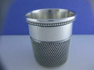 Vintage Sterling Silver Simons Thimble Shot Glass No Mono