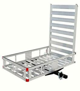 Maxxhaul 80779 Aluminum Hitch Mount Cargo Carrier With 47 Long Ramp New