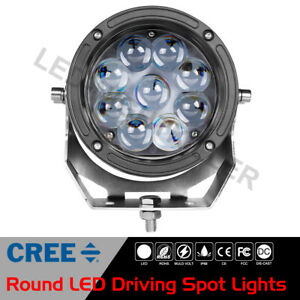 6 Cree Round Led Driving Spot Lights Headlight Fog Pods Lamp Off Road Truck Atv