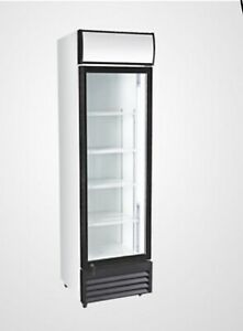 1 Glass Door Refrigerator Merchandiser Single Clear Display Store Cooler New