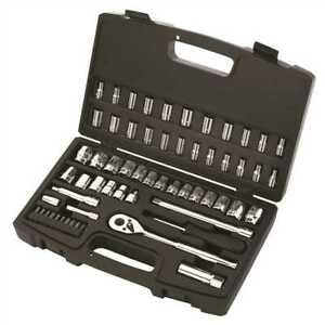 Stanley 60 Piece Socket Set 1 4 In And 3 8 In Drives