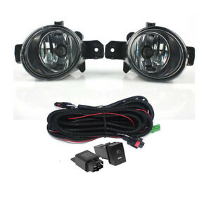 Fog Light Bumper Lamp W Harness Switch Set For Nissan March Micra 2005 2009
