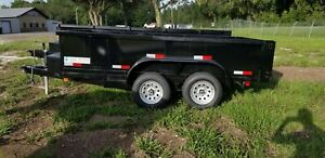 New 6x12 Dump Trailer 7k Gvwr Tandem In Stock All Sizes 5x10 7x14 7x16