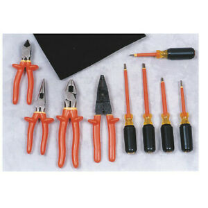 Oberon Company Toolkit 9roll Electrical Insulated Tool Kit 9 Piece
