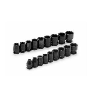 Husky Impact Socket Set 3 8 In Drive 6 point Standard Intermediate 18 piece