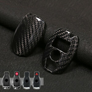 Real Carbon Fiber Car Key Case Cover For Mercedes Benz C E S Cls Glk W203 W212