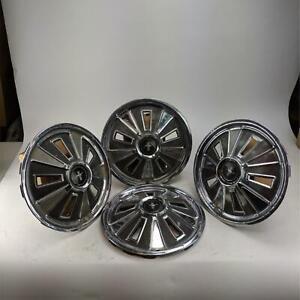 Vintage Ford Mustang 1965 Hubcaps 14 Wheel Cover Hub Caps Set Of 4