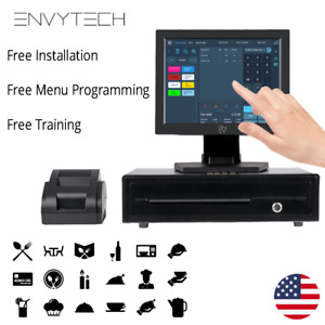 12 Touchscreen Pos System For Restaurant Pos Cash Register Till Catering Pizza