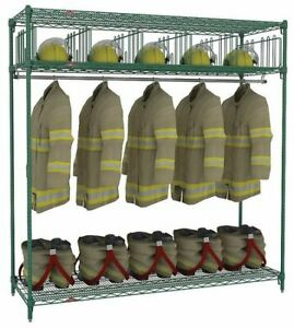Metro Tfstatogr Turnout Gear Rack free Stand 5 Comprtmnt