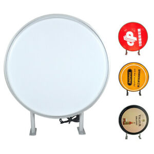 24 Led Double Sided Outdoor Round Light Box Advertising Sign Waterproof