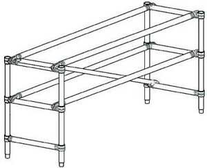 Werner 4110 Scaffold Tower Guard Rail Aluminum
