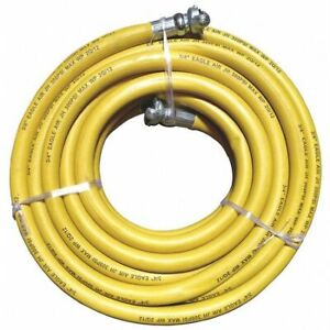 Eagle 001 0123 0050i 3 4 X 50 Ft Rubber Coupled Air Jackhammer Hose 300 Psi Yl